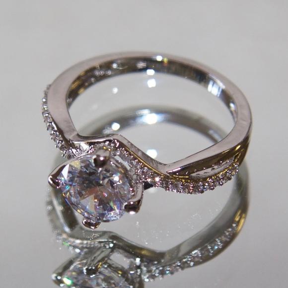 c437992da Jenna Jameson Jewelry   18kt Rhodium Gold Swarovski Cz Engagement ...